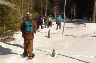 Guided Snowshoe Outings on PLC Lands